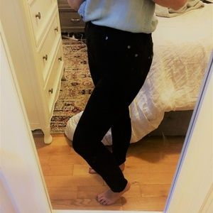 7 For All Mankind - Black High Waist Skinny Jeans
